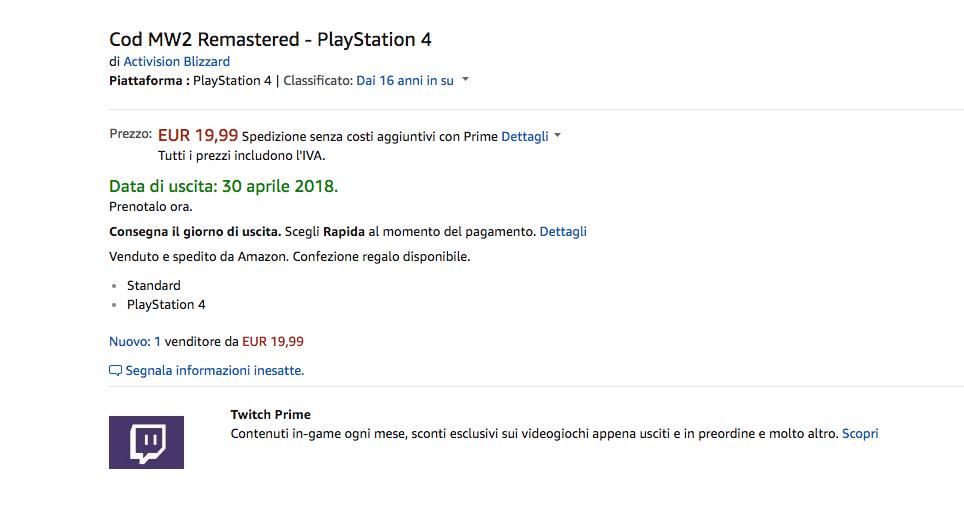Call of Duty Modern Warfare 2 Remastered _amazon