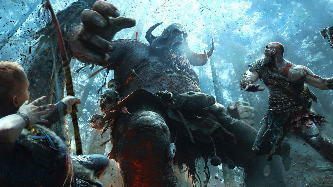 Fantasma de Esparta Kratos ao Ataque
