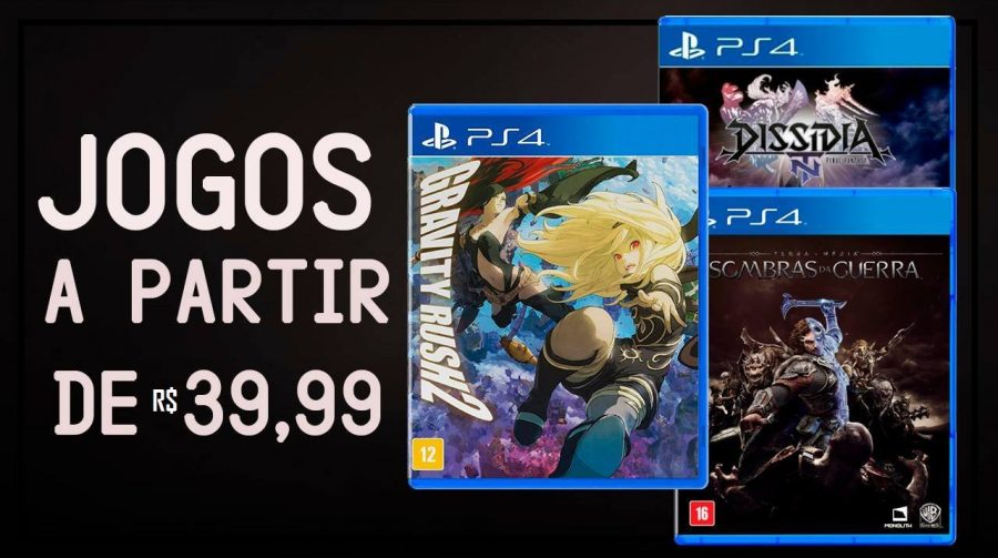 A partir de R$ 40! Veja as melhores ofertas em jogos de PS4