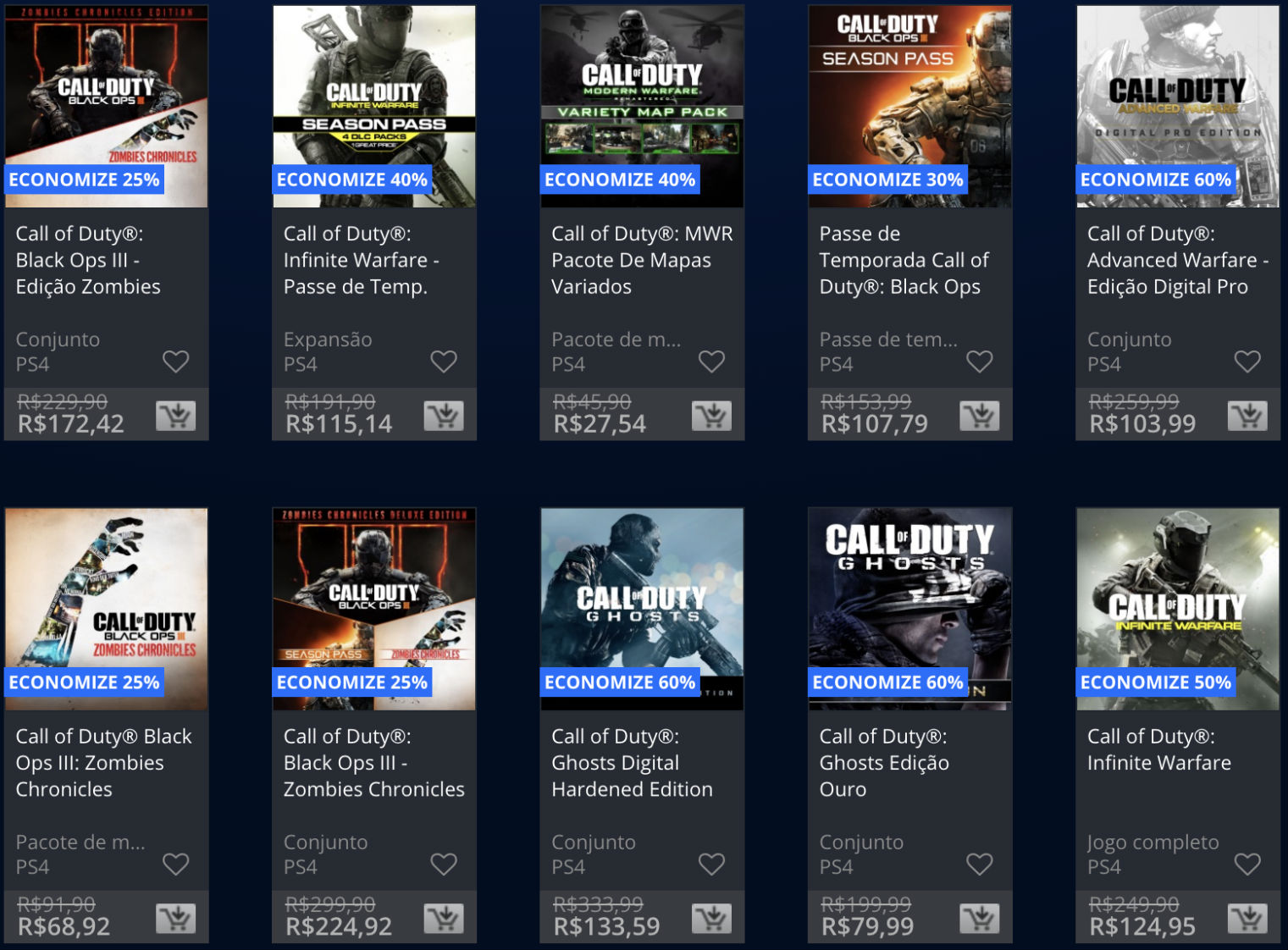Ofertas da Semana - Call of Duty