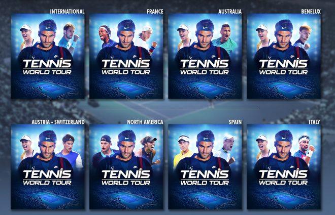 Confira as capas regionais de World Tennis Tour