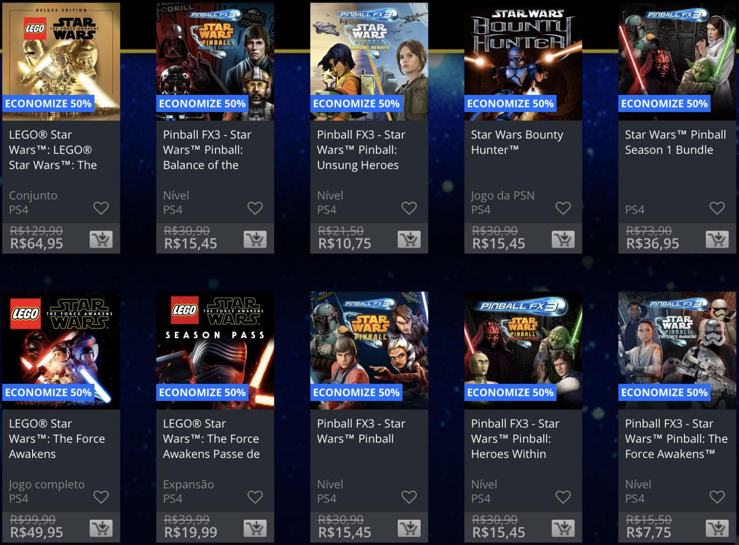 Star Wars - Promoção na PSN