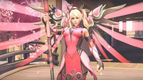 Overwatch: Mercy recebe skin rosa em campanha contra o câncer de mama