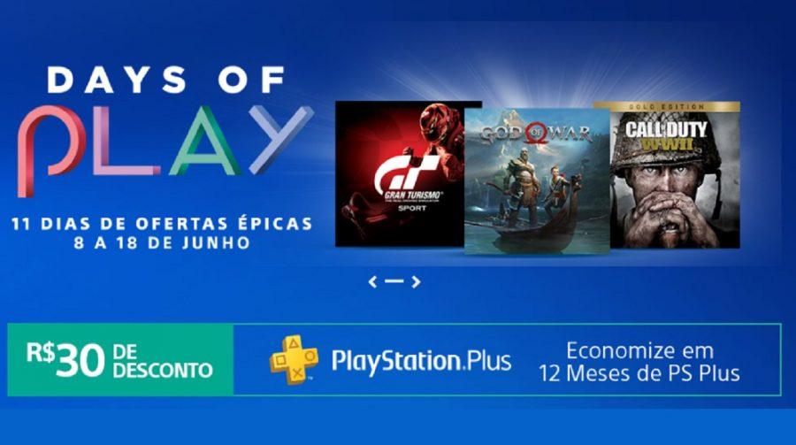 Começou! Promoção Days of Play oferece diversos descontos na PSN