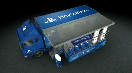 Caminhão do PlayStation! Sony anuncia o PlayStation na Estrada no Brasil