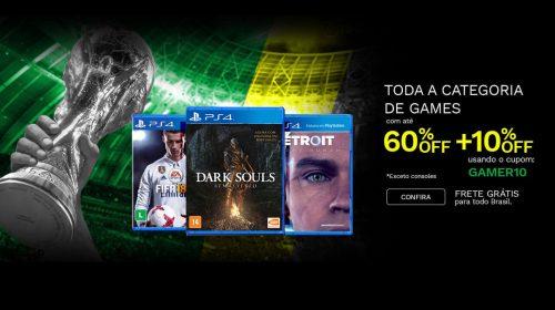 Tem cupom! Saraiva oferece descontos e frete grátis em jogos de PS4