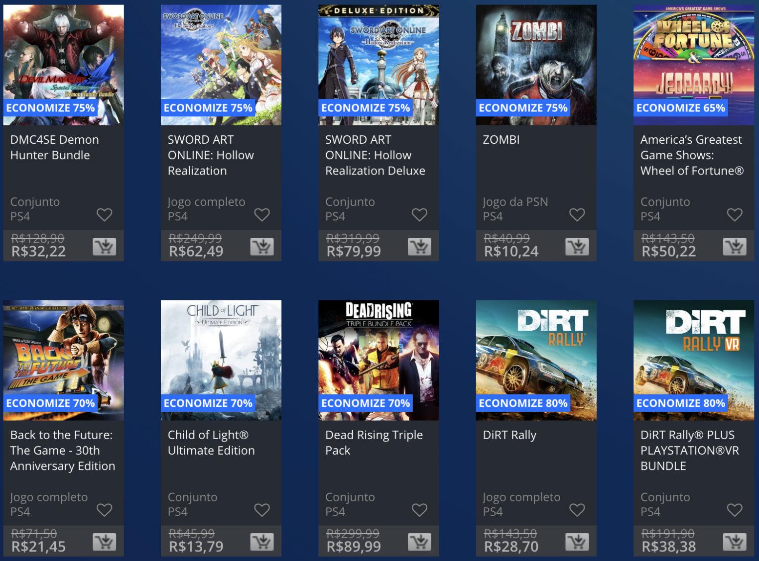 Sony revela Promoção Flash de julho na PlayStation Store
