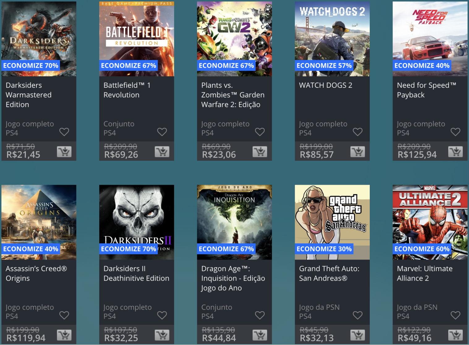 Promoção de Meio do Ano na PS Store com mais de 600 itens com preços que variam de R$ 10 a R$ 200 4