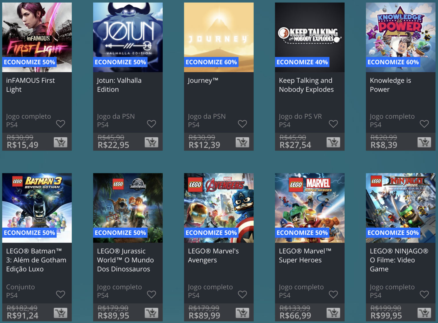Promoção de Meio do Ano na PS Store com mais de 600 itens com preços que variam de R$ 10 a R$ 200 15