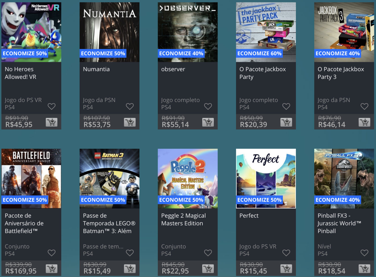 Promoção de Meio do Ano na PS Store com mais de 600 itens com preços que variam de R$ 10 a R$ 200 18