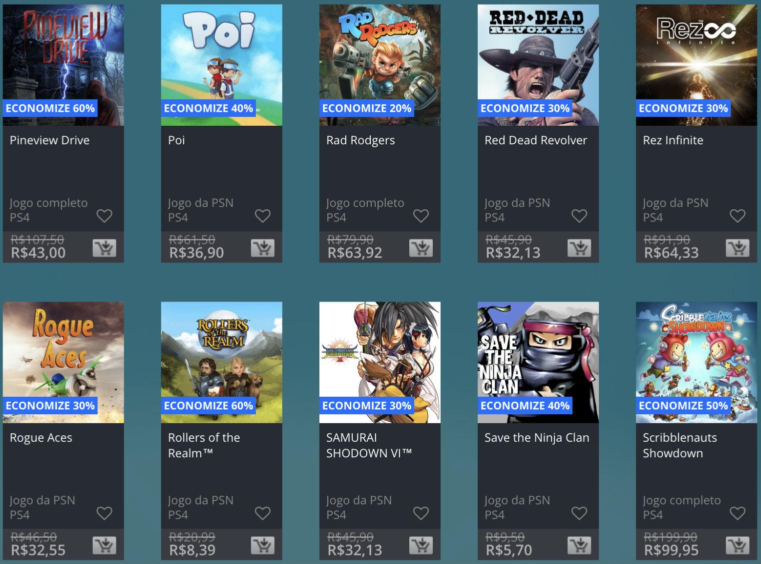 Promoção de Meio do Ano na PS Store com mais de 600 itens com preços que variam de R$ 10 a R$ 200 19