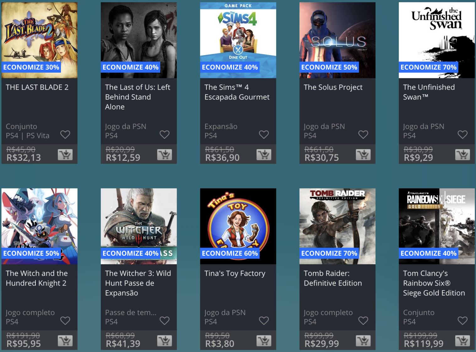 Promoção de Meio do Ano na PS Store com mais de 600 itens com preços que variam de R$ 10 a R$ 200 22