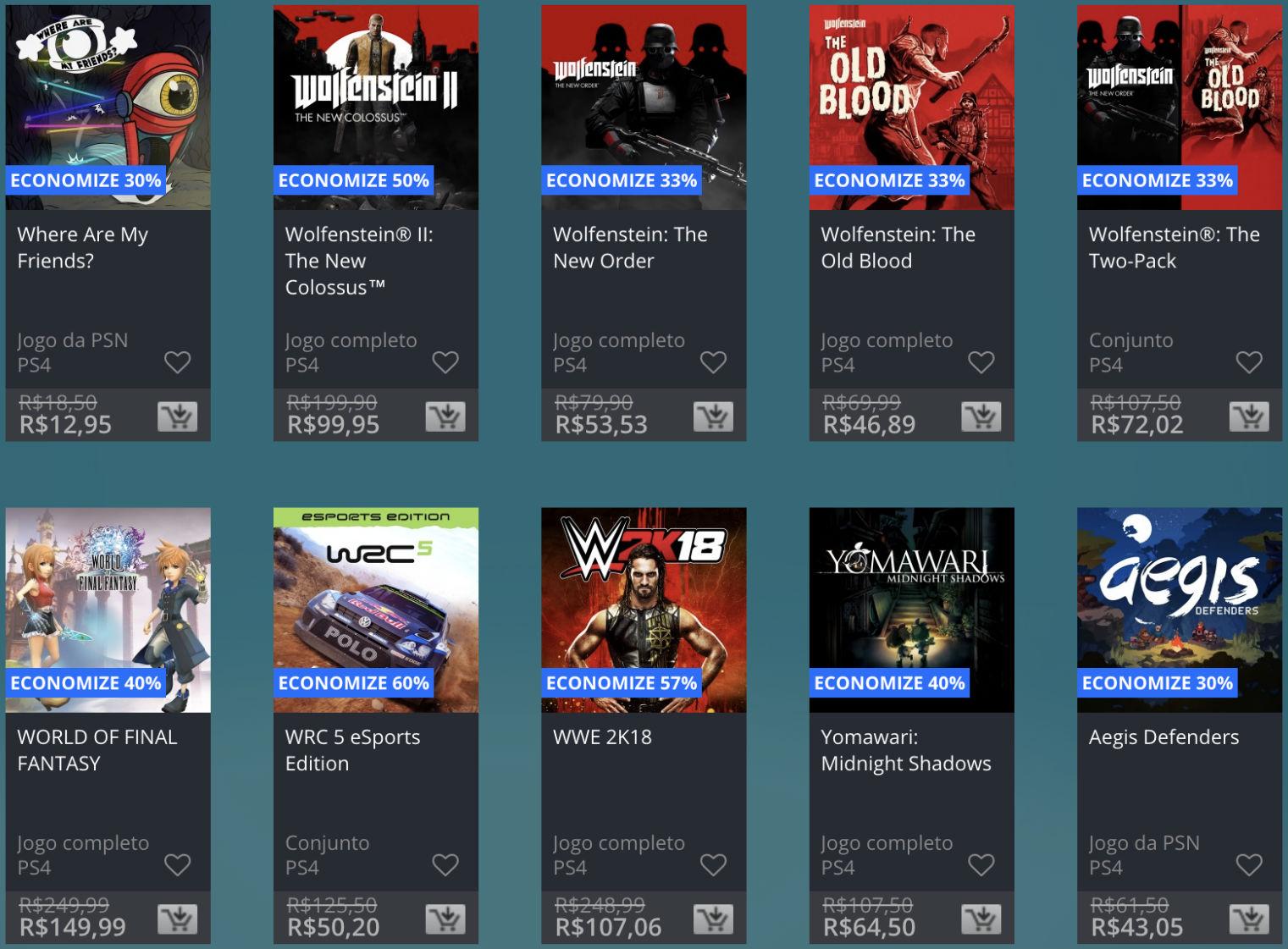 Promoção de Meio do Ano na PS Store com mais de 600 itens com preços que variam de R$ 10 a R$ 200 24
