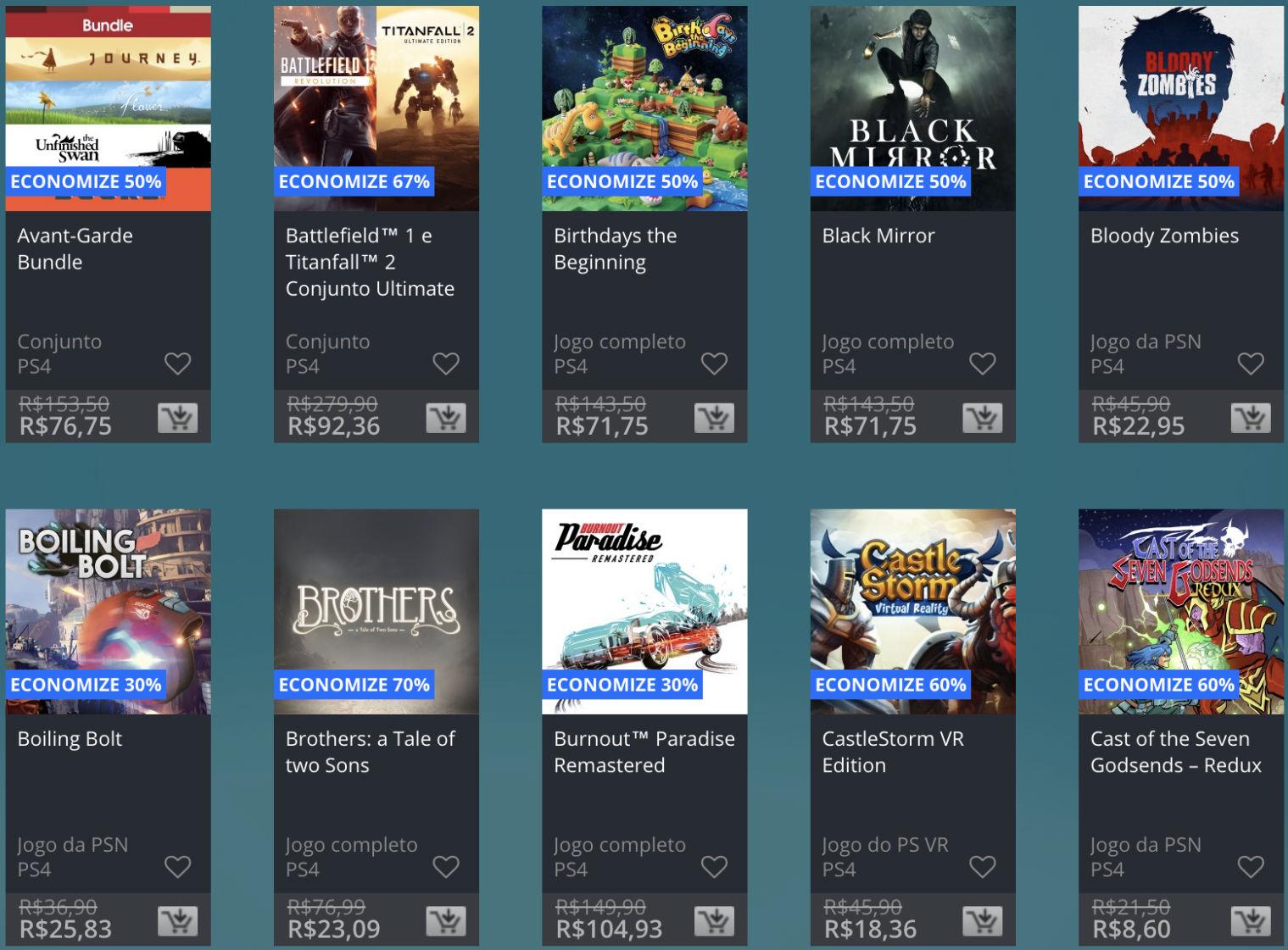 Promoção de Meio do Ano na PS Store com mais de 600 itens com preços que variam de R$ 10 a R$ 200 26