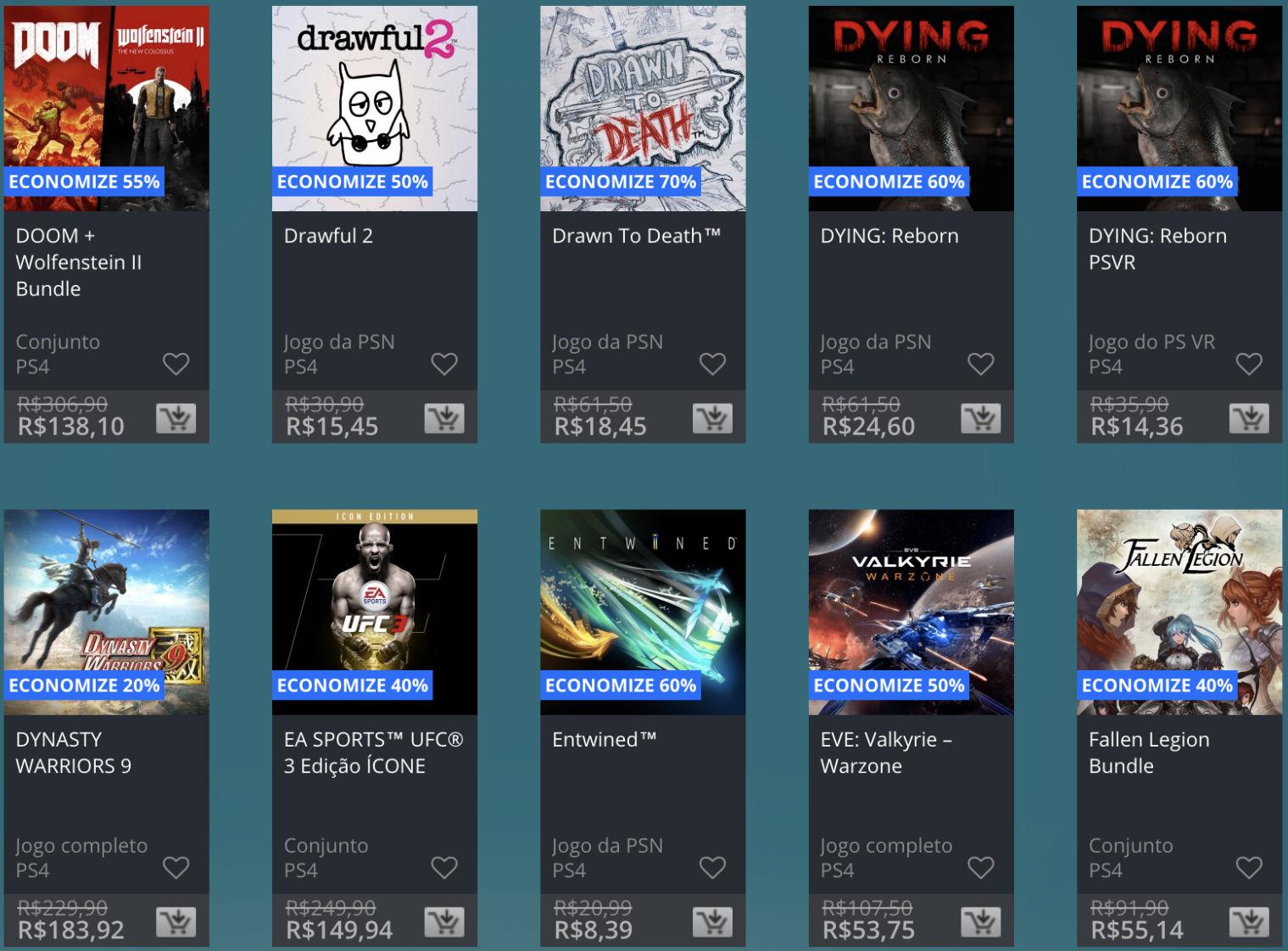 Promoção de Meio do Ano na PS Store com mais de 600 itens com preços que variam de R$ 10 a R$ 200 28