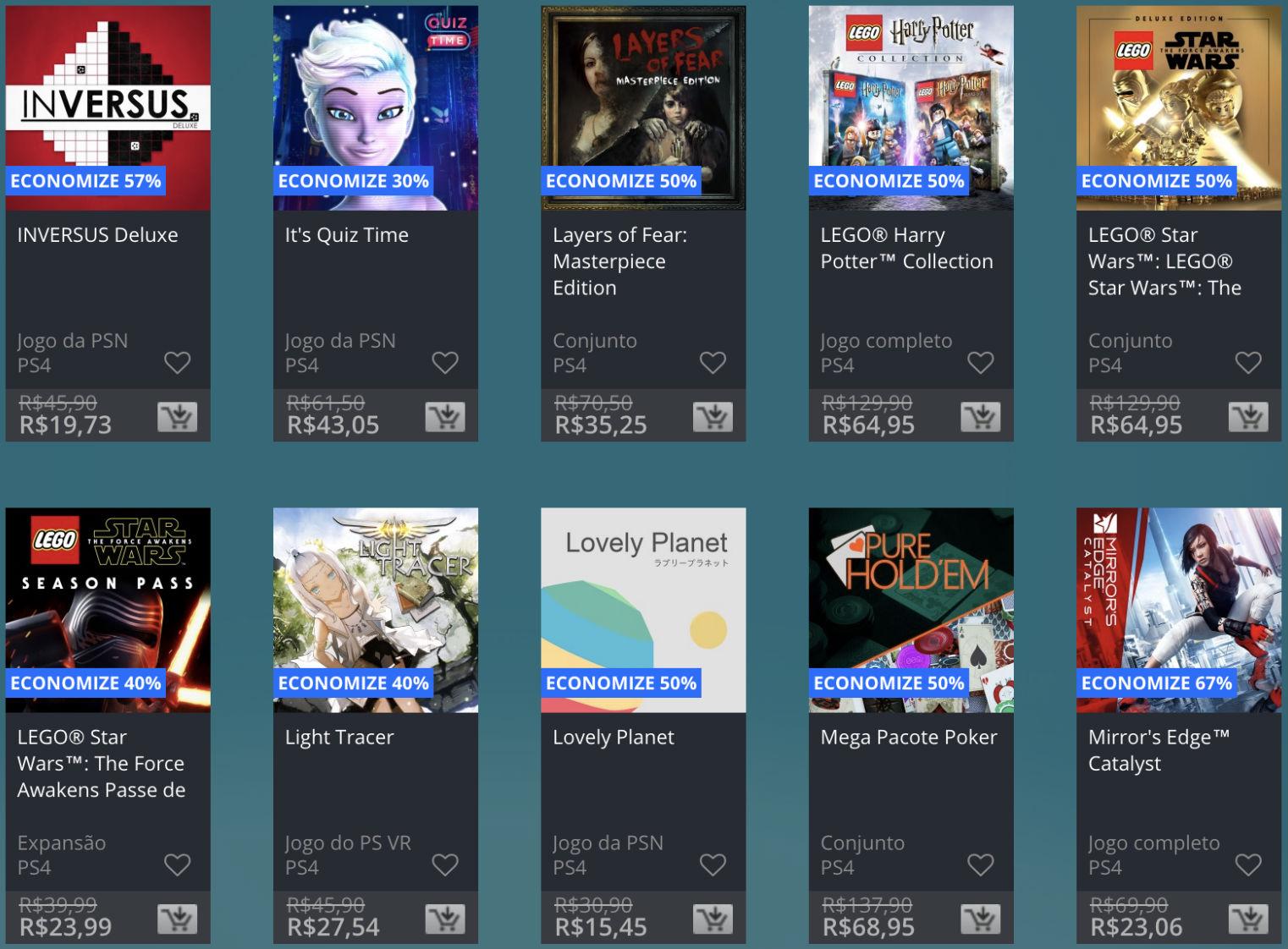 Promoção de Meio do Ano na PS Store com mais de 600 itens com preços que variam de R$ 10 a R$ 200 31