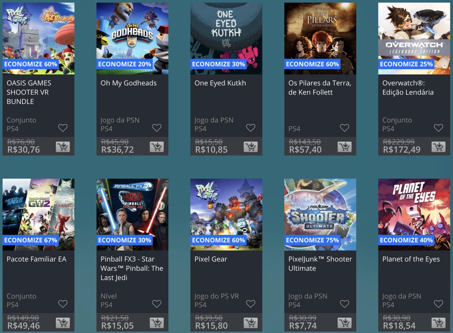 Promoção de Meio do Ano na PS Store com mais de 600 itens com preços que variam de R$ 10 a R$ 200 33
