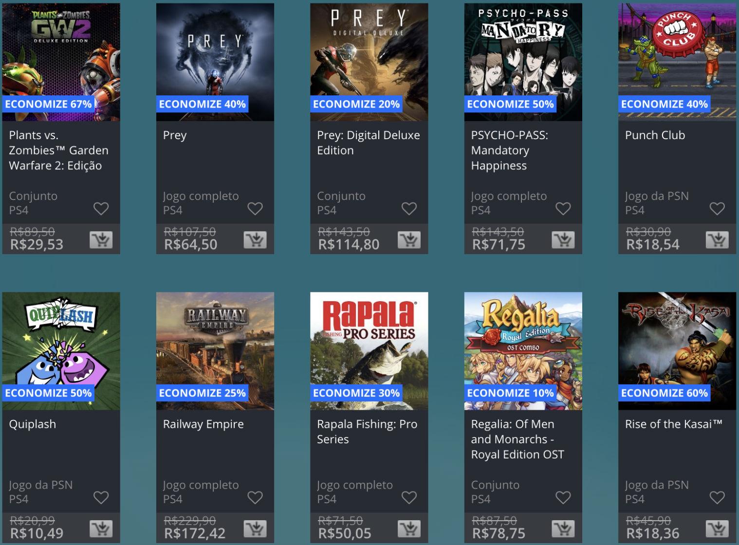 Promoção de Meio do Ano na PS Store com mais de 600 itens com preços que variam de R$ 10 a R$ 200 34
