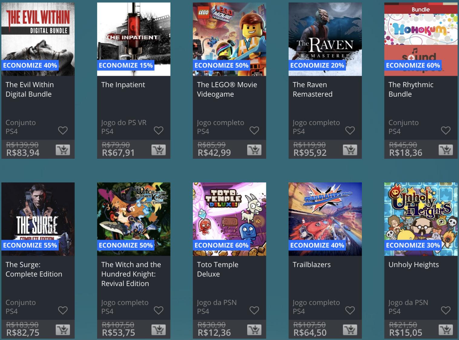 Promoção de Meio do Ano na PS Store com mais de 600 itens com preços que variam de R$ 10 a R$ 200 37