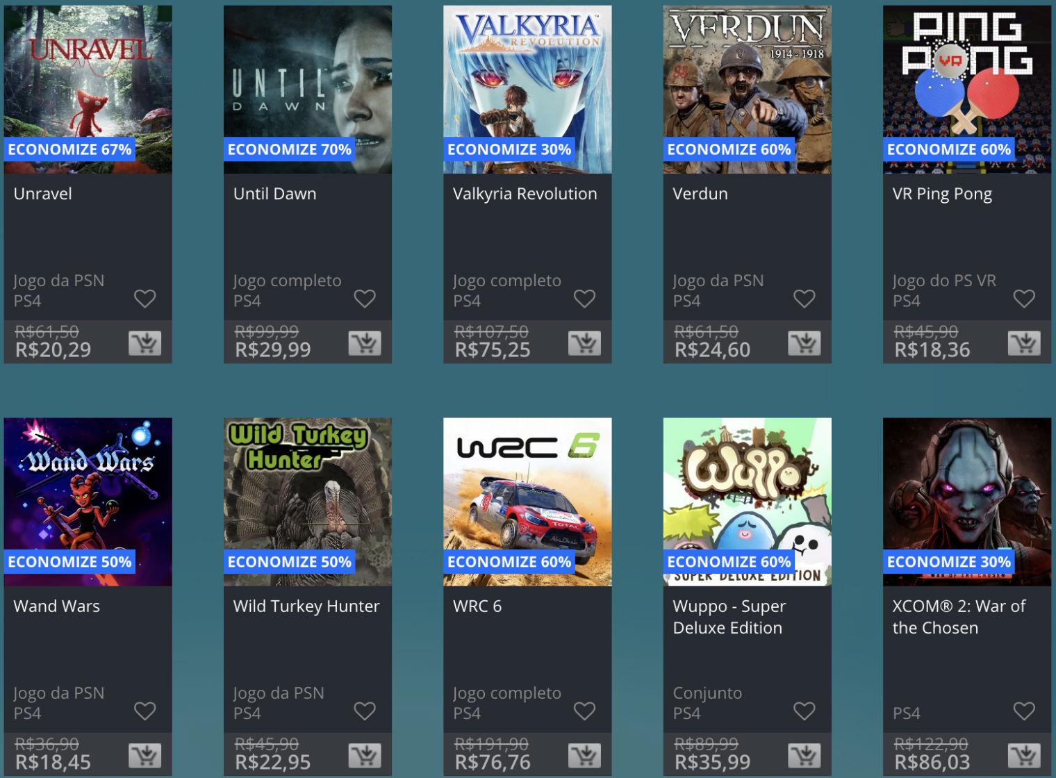 Promoção de Meio do Ano na PS Store com mais de 600 itens com preços que variam de R$ 10 a R$ 200 38