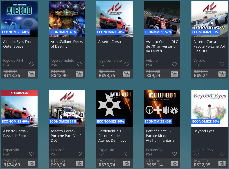 Promoção de Meio do Ano na PS Store com mais de 600 itens com preços que variam de R$ 10 a R$ 200 8