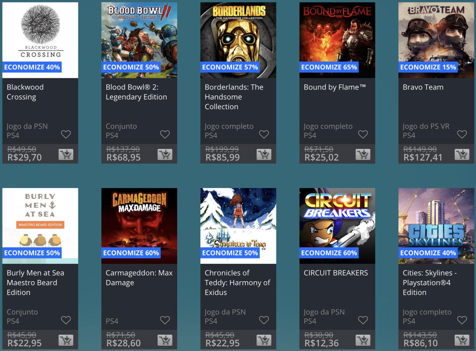Promoção de Meio do Ano na PS Store com mais de 600 itens com preços que variam de R$ 10 a R$ 200 9