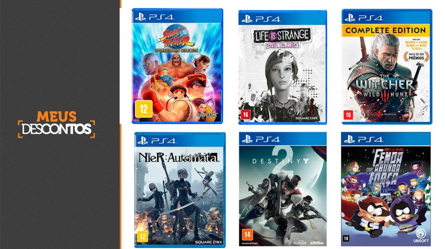 Descontos! Confira os melhores preços em jogos de PS4