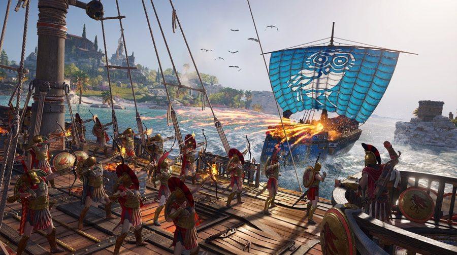 Batalhas navais brilham em novo vídeo de Assassin's Creed Odyssey em 4K