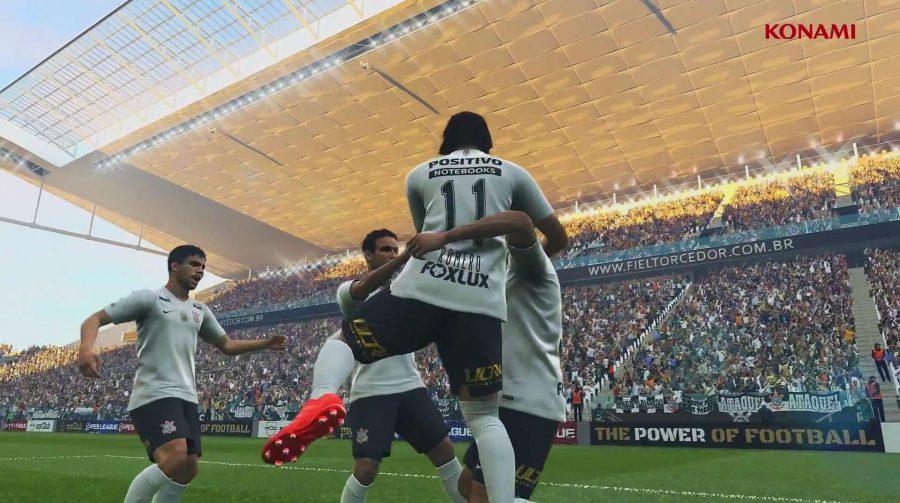 Konami vai estampar marca do PES 2019 na camisa do Corinthians