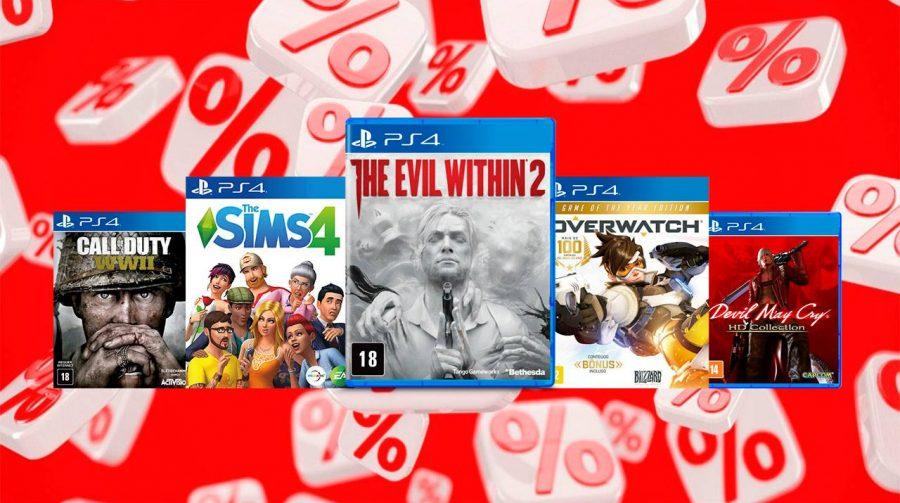 Lojas Americanas oferece diversos jogos de PS4 com descontos incríveis; confira