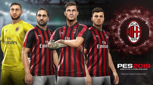 Milan é anunciado como parceiro oficial do PES 2019