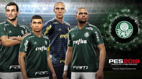 Palmeiras é mais um parceiro exclusivo da Konami em PES 2019