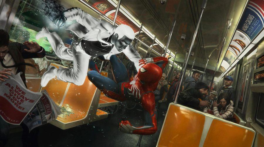 Tá chegando! Marvel's Spider-Man é destaque em metrô de Nova York