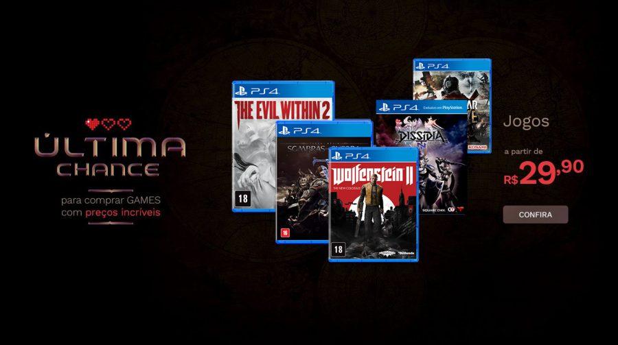A partir de R$ 29! Saraiva oferece descontos em diversos jogos de PS4