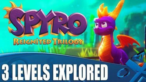 Novo gameplay de Spyro: Reignited Trilogy destaca três estágios; assista