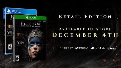 Hellblade: Senua's Sacrifice vai ganhar edição física em dezembro; saiba mais