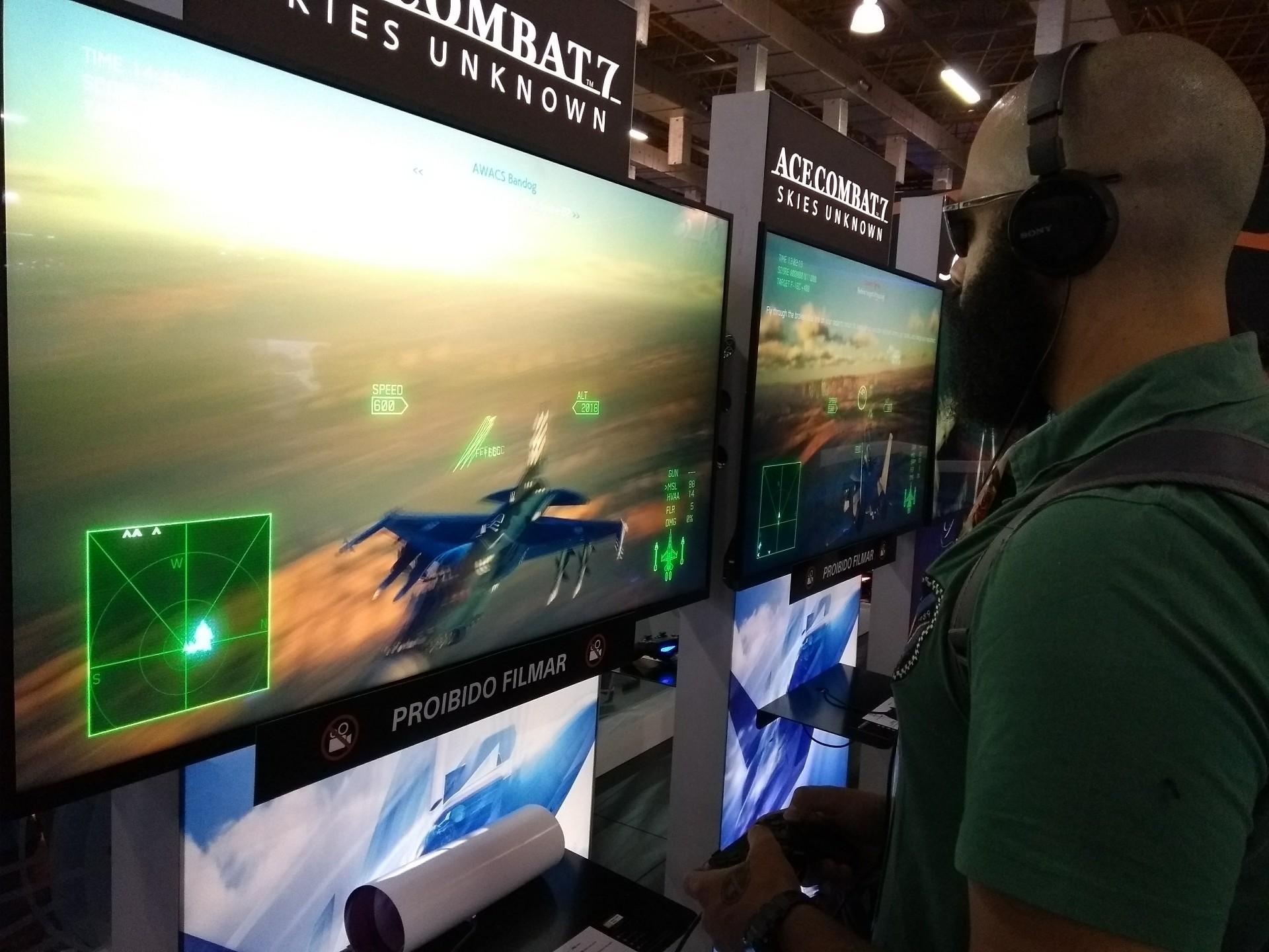 [BGS 2018] Testamos: Ace Combat 7 traz combates mornos no céu 1