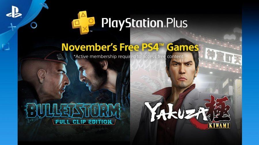[Oficial] PS Plus de novembro virá com BulletStorm e Yakuza: Kiwami
