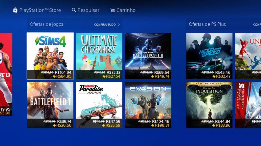EA e Sony oferecem descontos em vários jogos AAA; confira