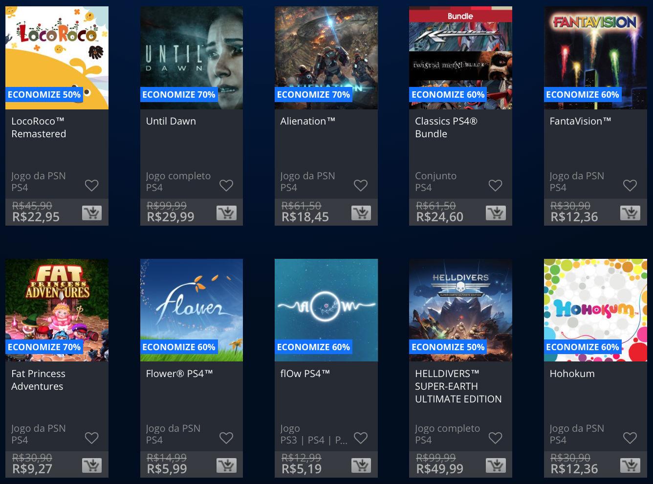 """Sony lança promoção na PSN de """"Apenas no PlayStation""""; veja preços 1"""