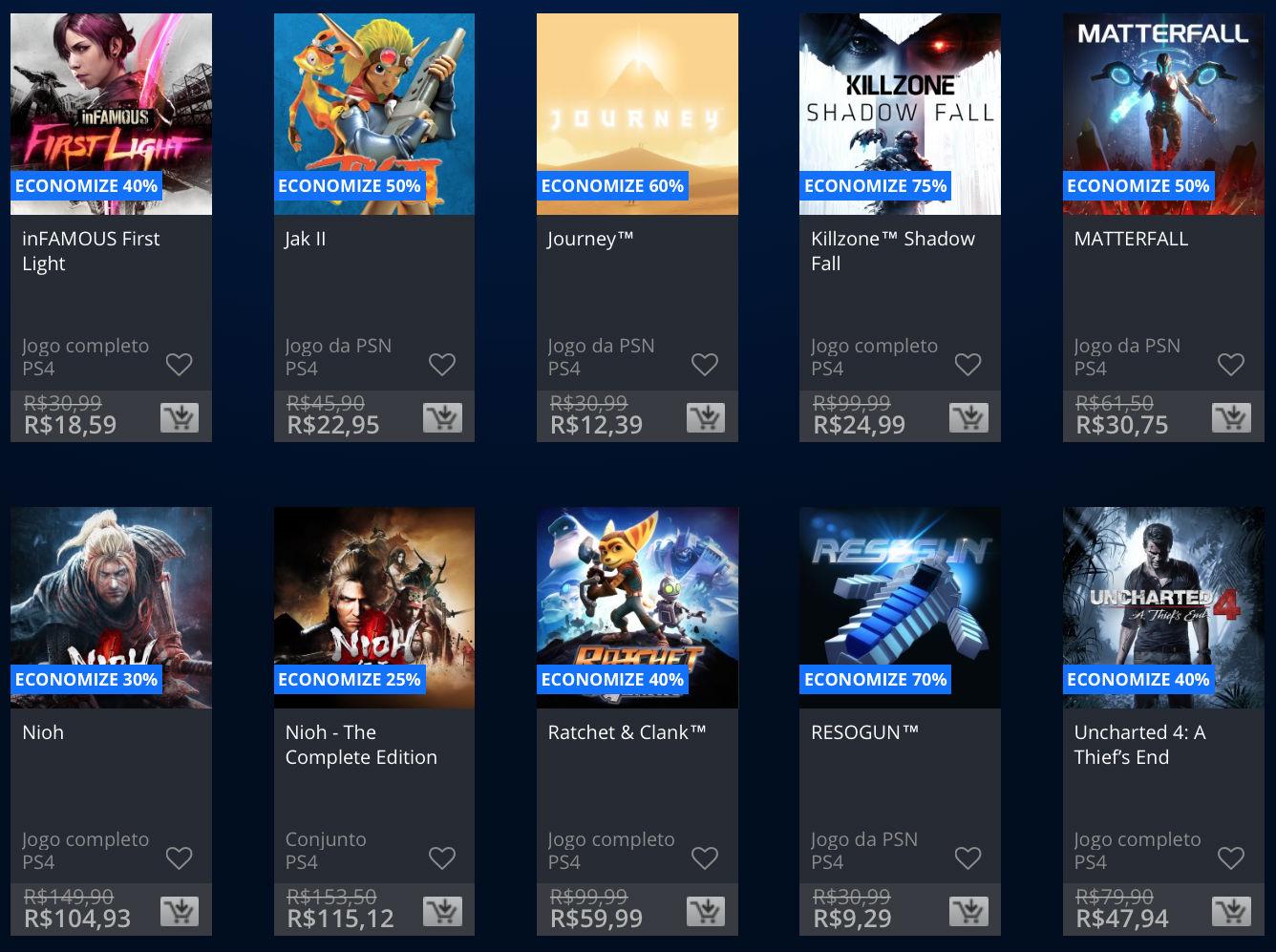 """Sony lança promoção na PSN de """"Apenas no PlayStation""""; veja preços 2"""