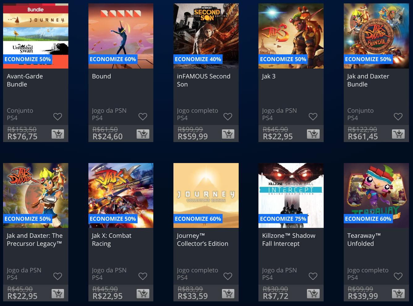 """Sony lança promoção na PSN de """"Apenas no PlayStation""""; veja preços 3"""