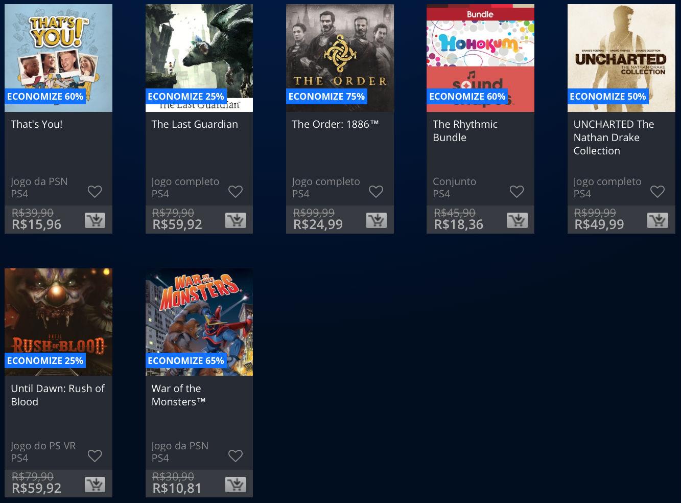 """Sony lança promoção na PSN de """"Apenas no PlayStation""""; veja preços 4"""