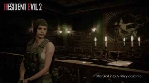 Capcom revela 'roupa militar' para Claire Redfield em Resident Evil 2; veja