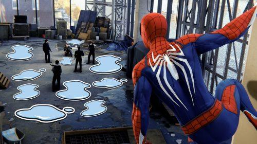 HUE HUE! Atualização de Spider-Man traz stickers de... poças d'água