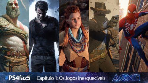 [#PS4faz5]: Os cinco melhores jogos do PlayStation 4
