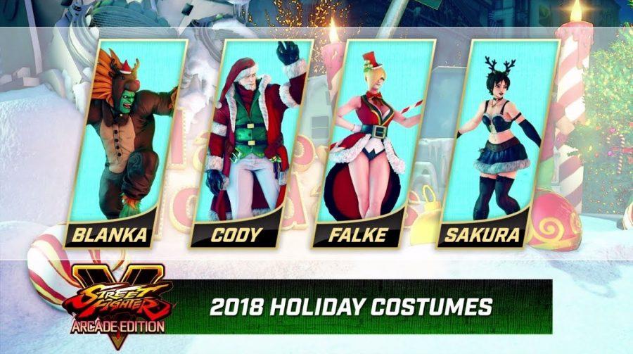 Capcom revela skins natalinas e de Resident Evil para Street Fighter V