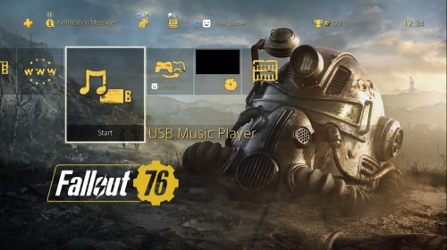 Contagem regressiva! PlayStation oferece tema gratuito de Fallout 76