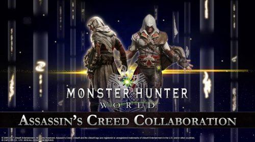 Monster Hunter: World recebe crossover com Assassin's Creed; saiba mais