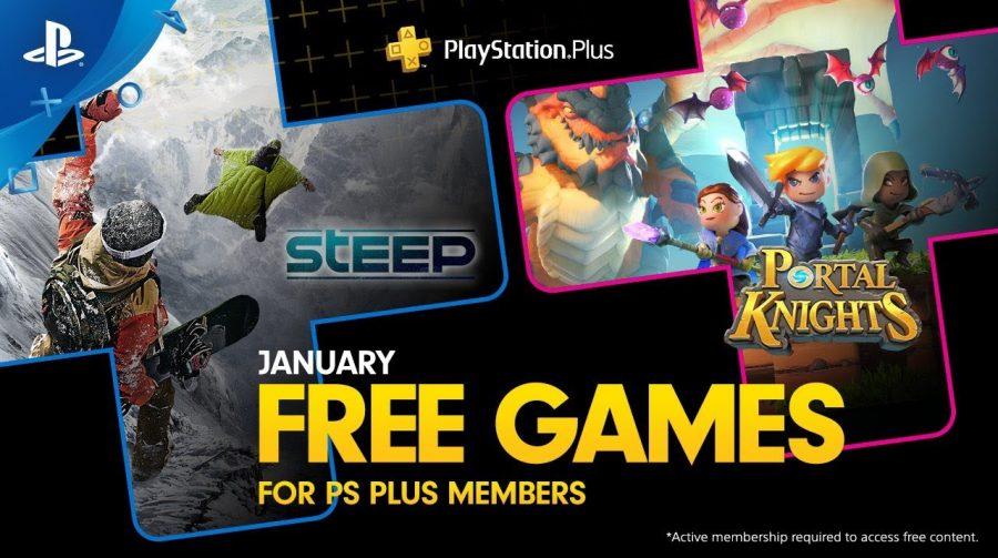 [Oficial] PS Plus de janeiro de 2019 contará com Steep e Portal Knights